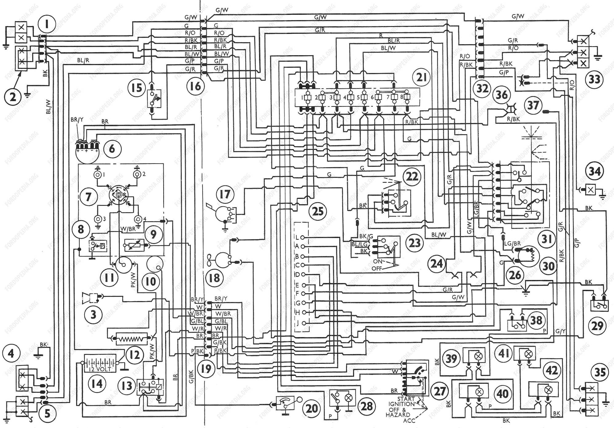 hight resolution of download full size image 3621x2525 642 kb wiring diagrams ford transit mki f o b 09 1968 to 09 1970 wiring