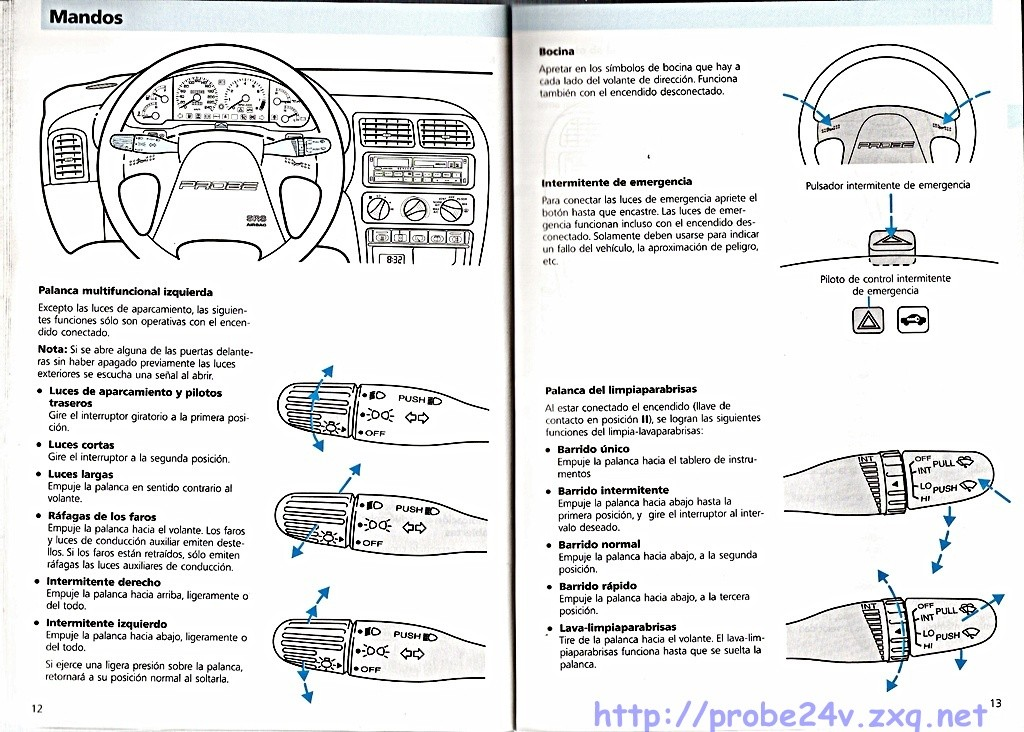 1994 Ford probe user manual