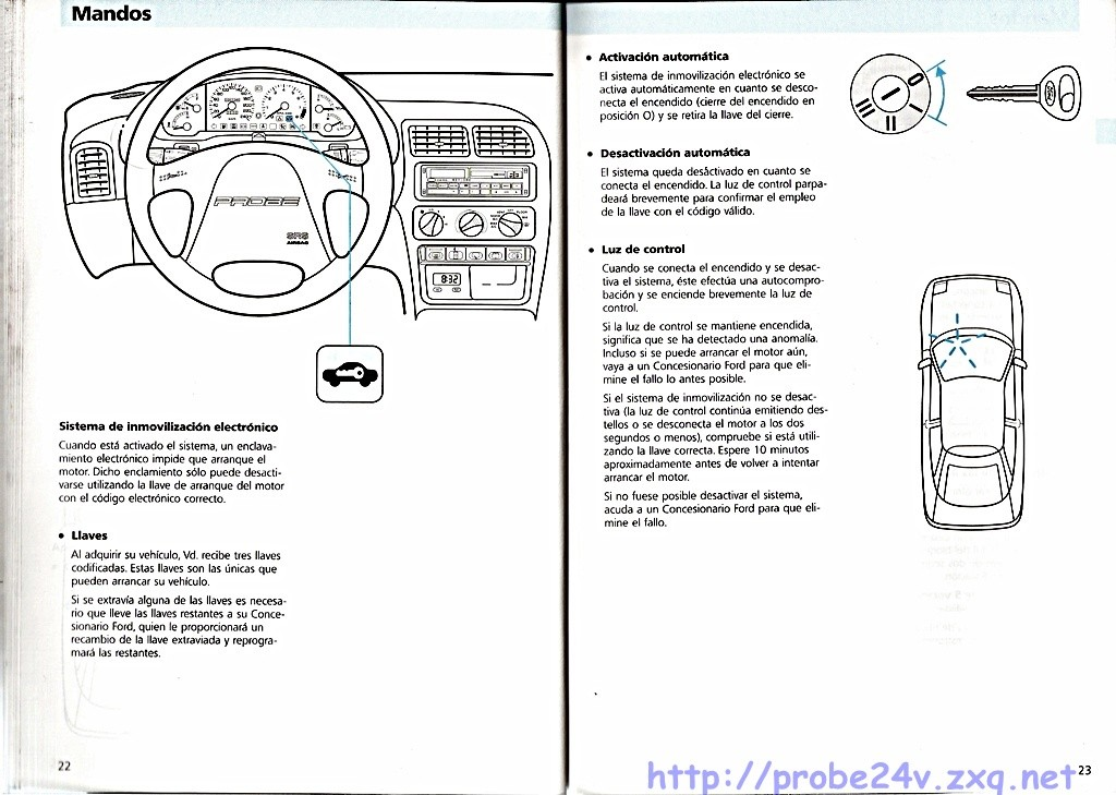 Manual del usuario Ford Probe 1995