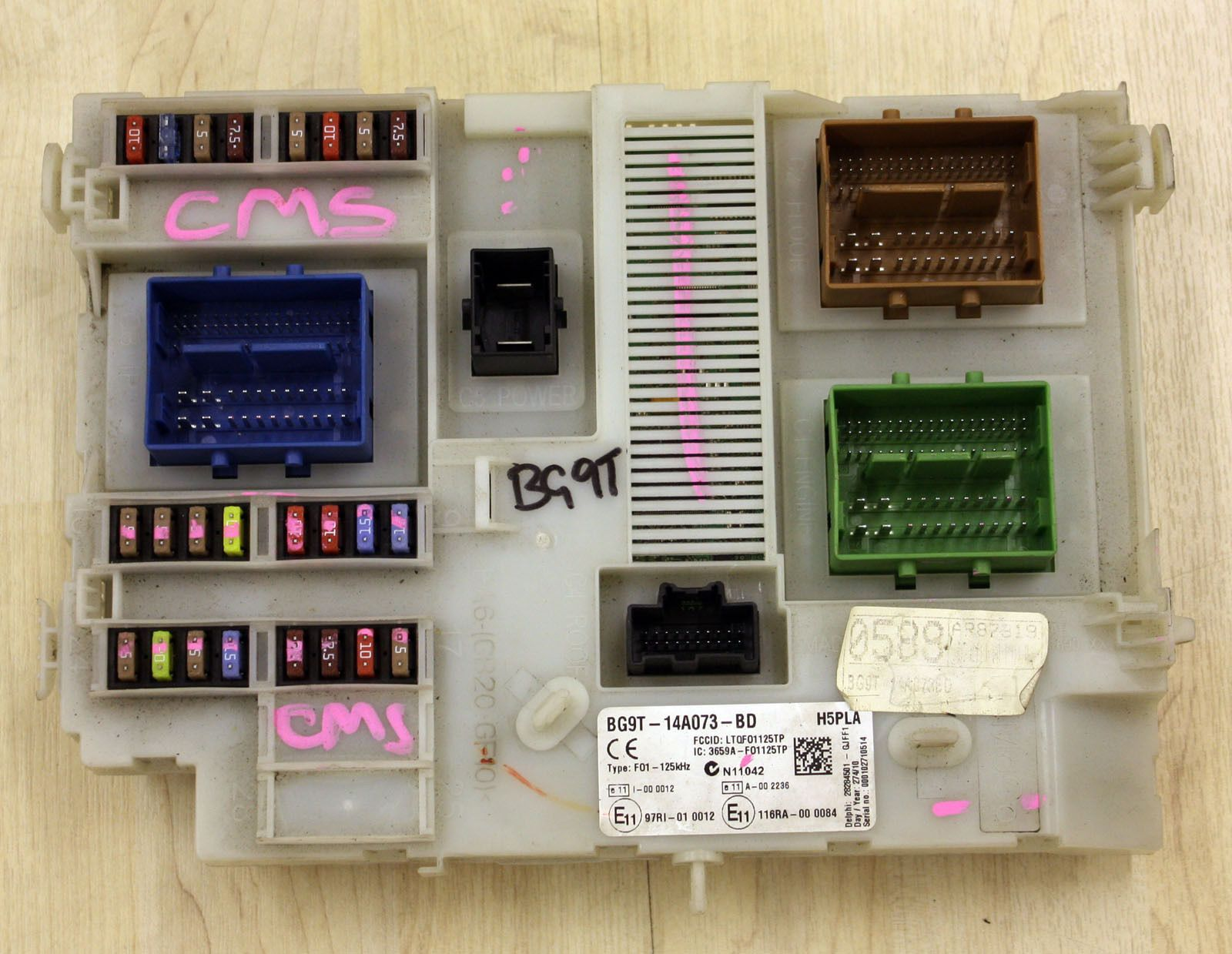 hight resolution of ford galaxy mk3 body control module fuse box bcm bg9t 14a073 bd 1861473
