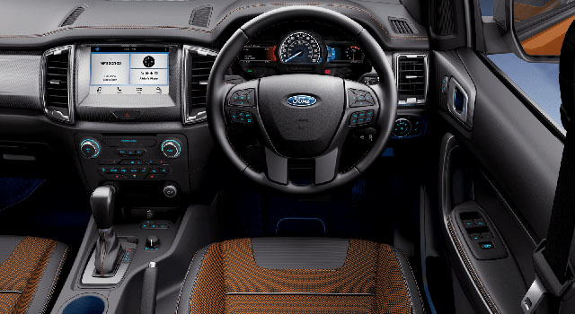 2019 ford ranger wildtrak interior