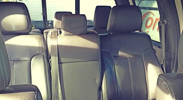 6-door Ford F-350 interior