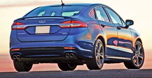 2020 Ford Fusion rear