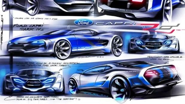 2021 Ford Capri renderings
