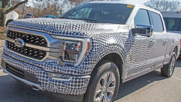 2021 Ford F-150 Hybrid spy shot