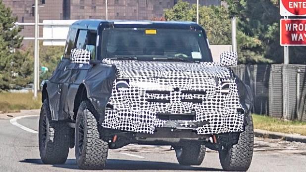 2022 Ford Bronco Warthog spy shots
