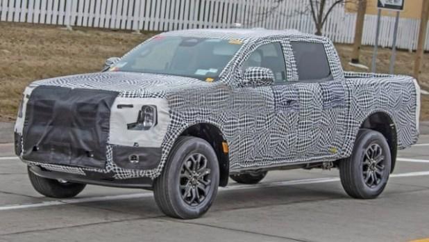 2022 Ford Ranger Wildtrak spied