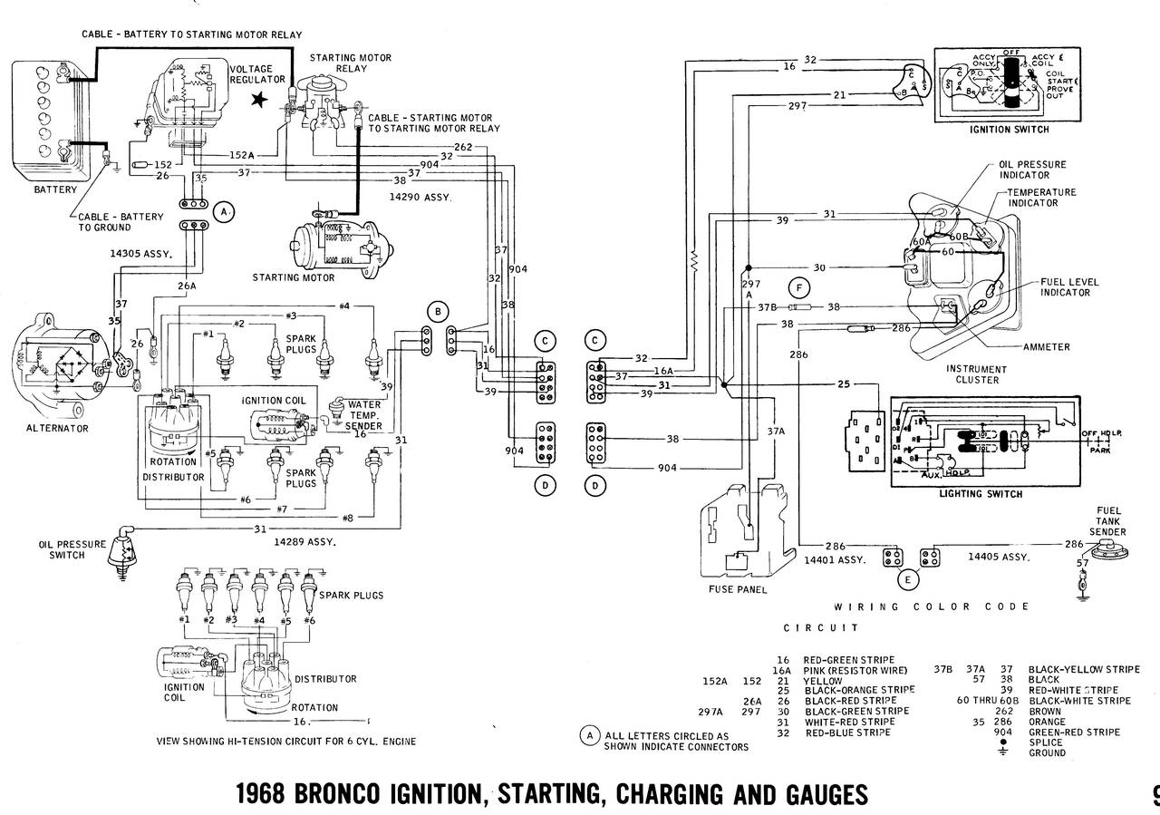 early bronco wiring diagram 07 ford f150 5 4 1968 diagrams truck fanatics