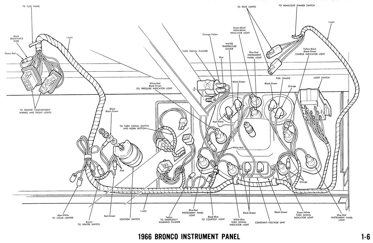 Ford Bronco Wiring Diagrams