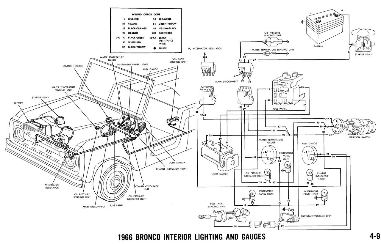 wiring diagrams for 66 bronco distributor