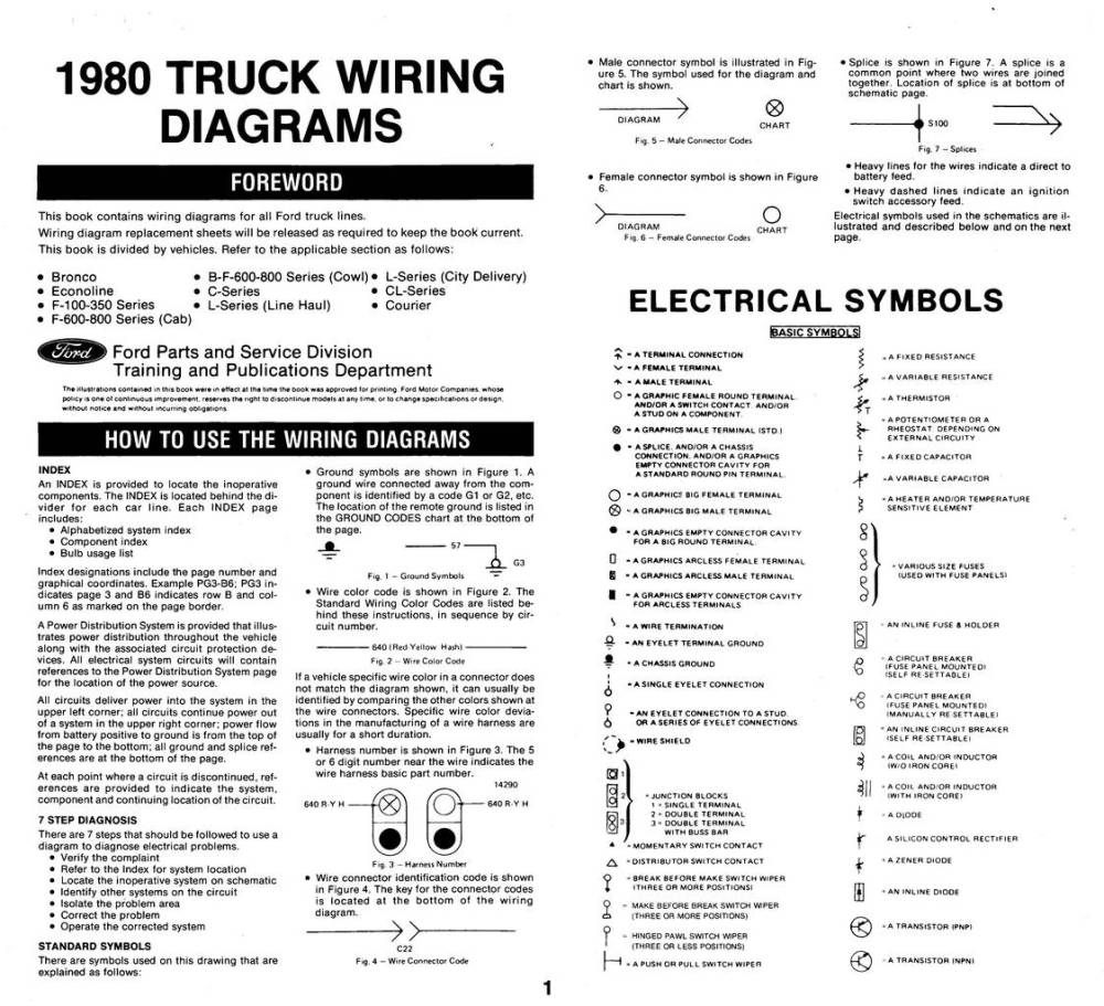 medium resolution of 1980 wiring diagrams ford truck fanatics 1980 ford f100 alternator wiring diagram 1980 ford f100 wiring diagram