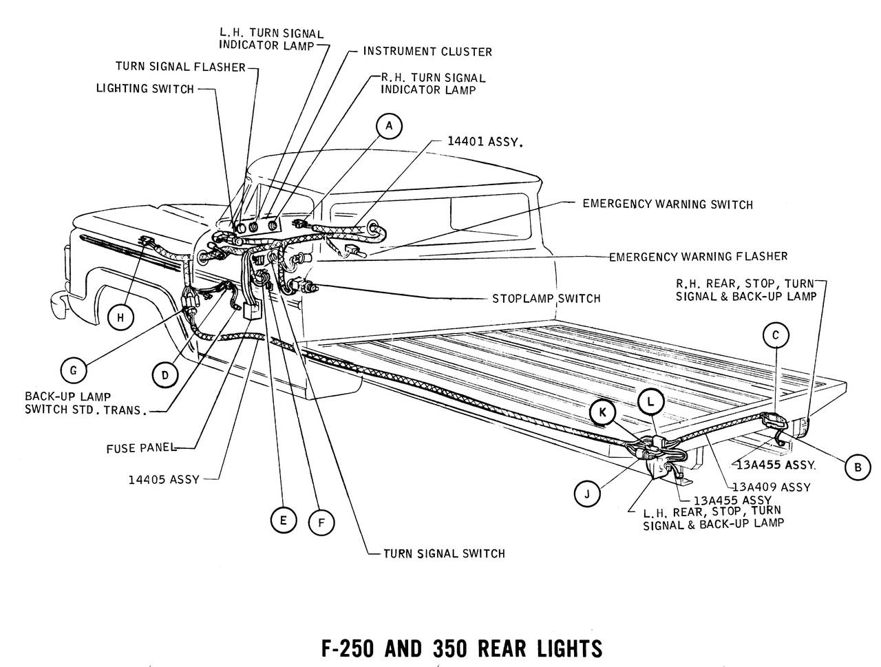 1965 Ford Truck Turn Signal Wiring Diagram - All Diagram ... Factory Ford Turn Signal Wiring Diagram on