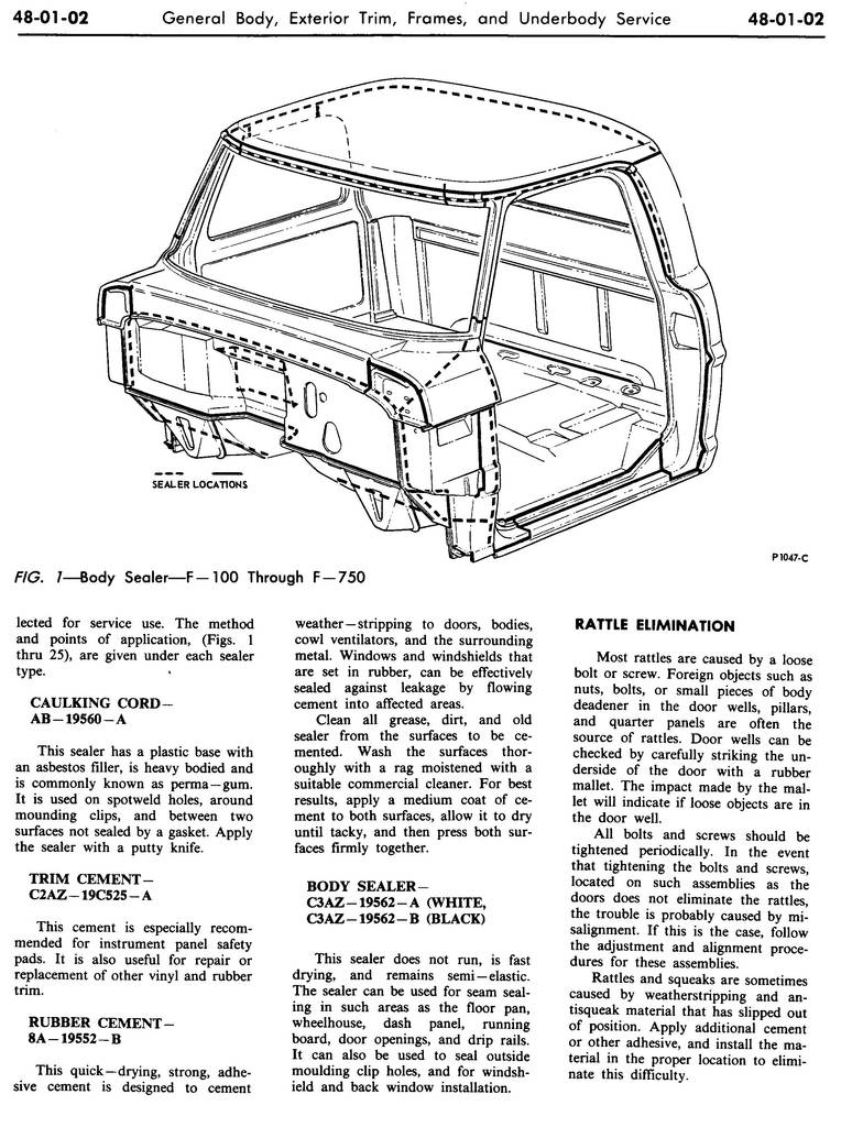 1970 Shop Manual-Vol 3 & 4,Body & Electrical,Group 48,Body