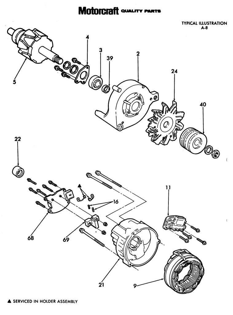 Motorcraft Master Parts List-Alternators-Illustrations