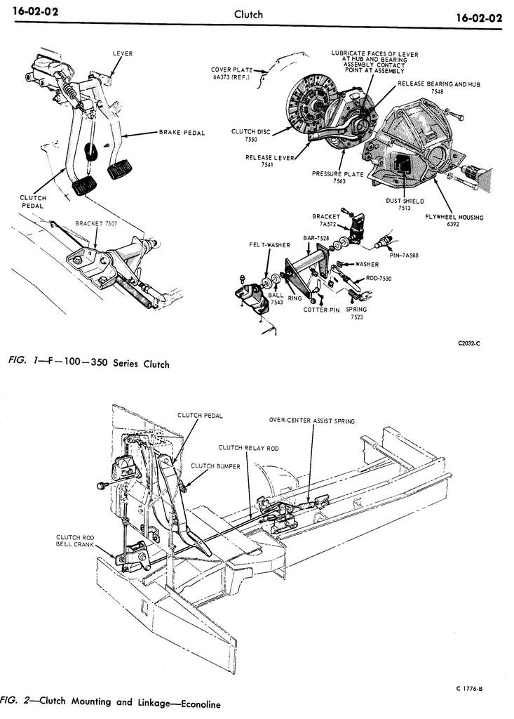 1970 Shop Manual-Chassis, Volume 1, Group 16, Clutch and