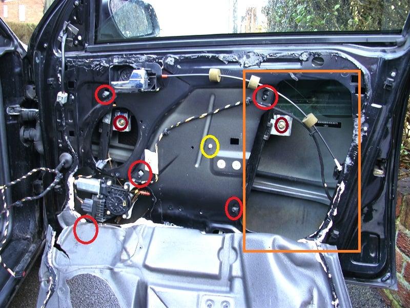 mondeo wiring diagram three wire thermostat window winder mechanism replacement - www.fordwiki.co.uk