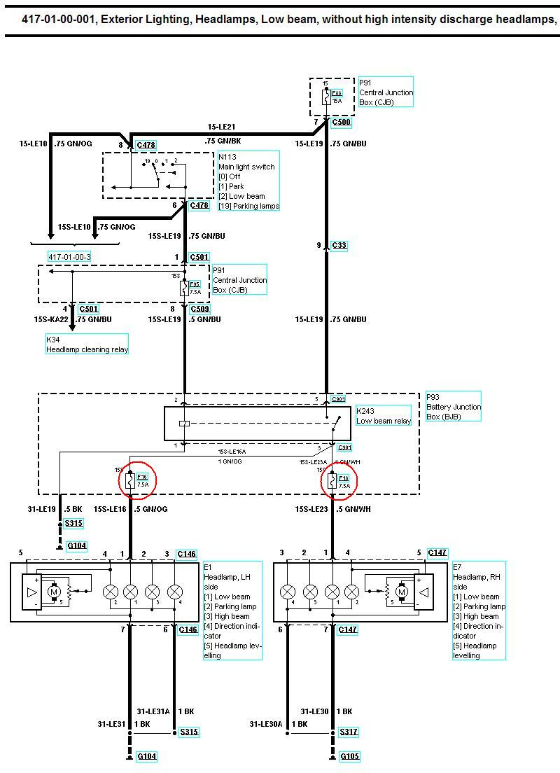 hight resolution of xenon oem headlight retro fit guide www fordwiki co uk wiring diagram for headlights halogen