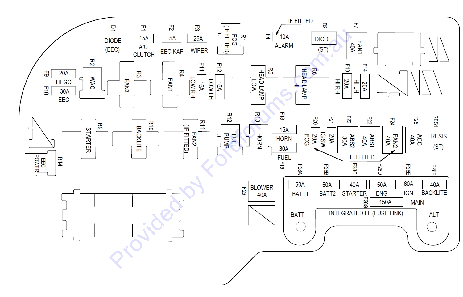 ba xr6 icc wiring diagram for contactor switch air conditioning intermittent problem electrics workshop