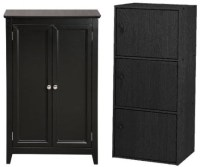 Black storage cabinets with doors | foregather.net