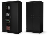 Black storage cabinet with doors | foregather.net