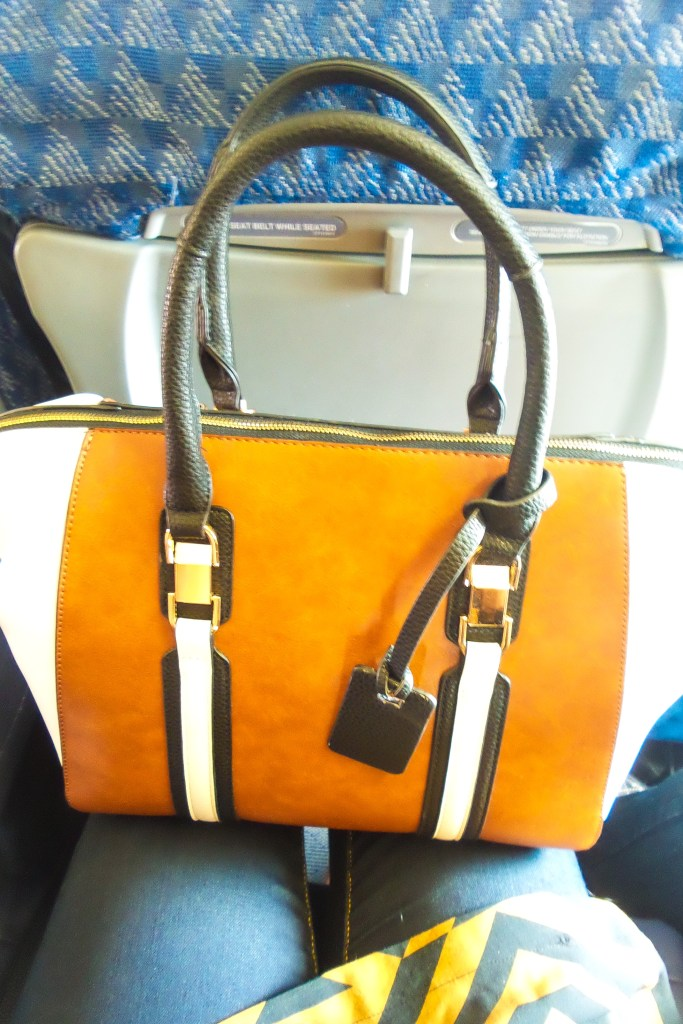 Purse from Versona Accessories - Airport fashion by popular Dallas travel and fashion blogger Foreign Fresh & Fierce