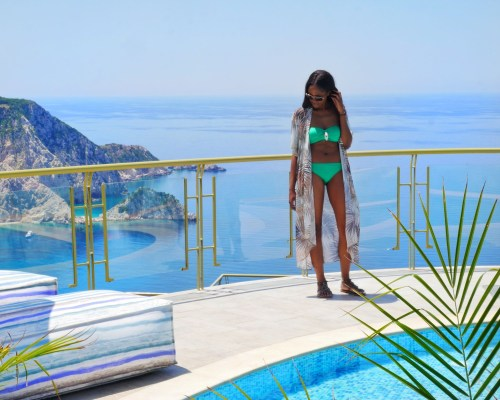 Where to Stay: Petani Bay Hotel - Kefalonia, Greece by popular Dallas travel blogger Foreign Fresh & Fierce