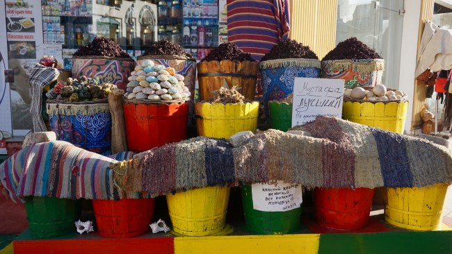 Spices and more being sold in the Old Market