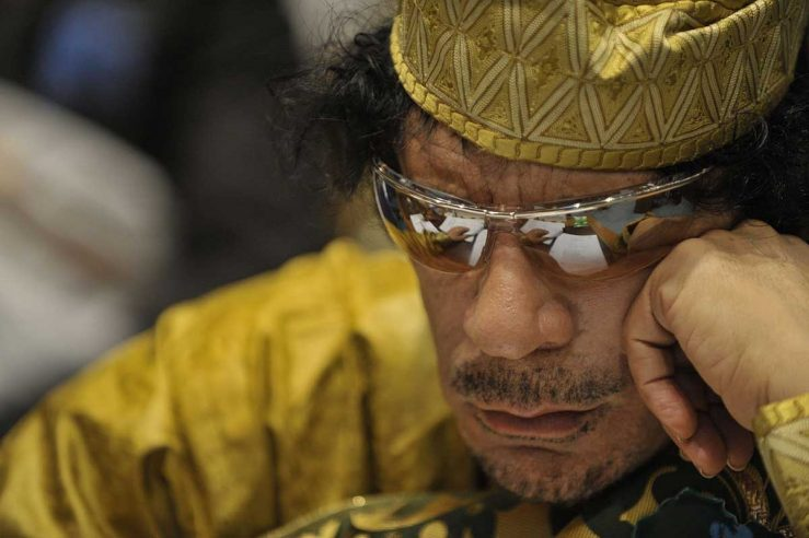 Libyan leader Muammar al-Gaddafi, murdered by Western-backed rebels on October 20, 2011, planned to create a gold-backed African currency to compete with the dollar and euro. (Photo: Jesse B. Awalt/US Navy)