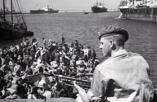 Image result for life magazine: british troops and put palestinians on boat