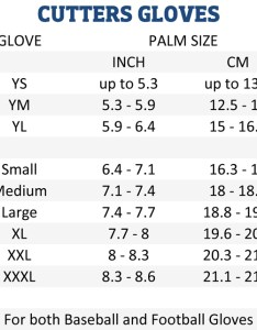 Cutters gloves sizing also charts american football equipment baseball softball rh forelle