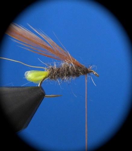 Fliegenbinden Elk Hair Caddis3