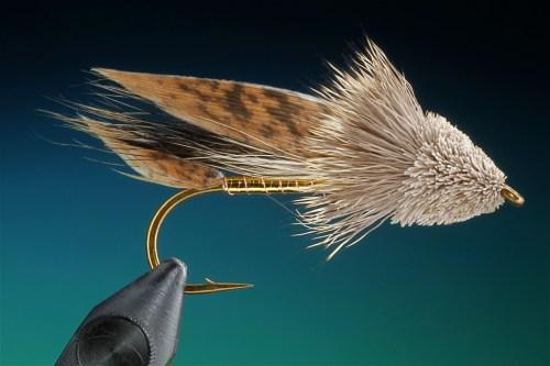 Forelle Äsche Fliegenbinden Barry Ord Clarke Muddler Minnow16