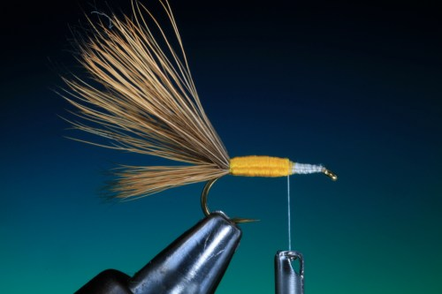 Forelle Äsche Fliegenbinden Barry Ord Clarke Humpy11