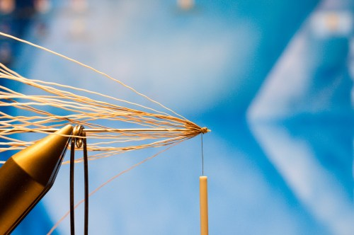 Forelle Äsche Fliegenbinden Schnake Crane Fly Daddy Long Legs5