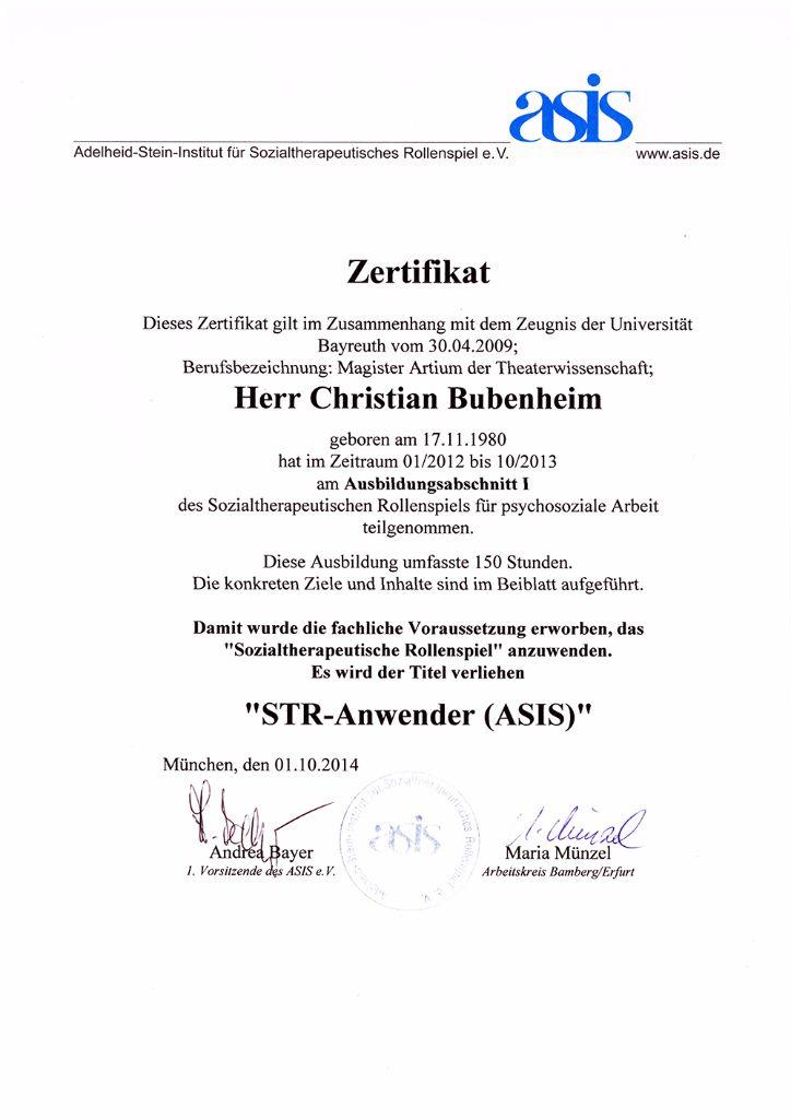 ASIS Zertifikat Ausbildung