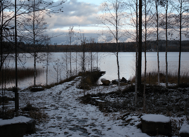 cold climate in Finland, lakes
