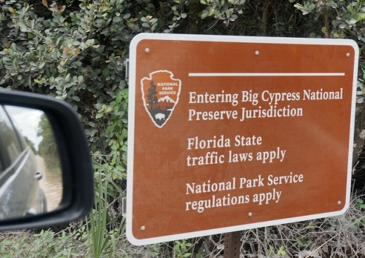 Entering Big Cypress National Preserve Jurisdiction