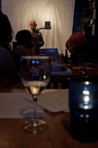 Stevan Allred reads from A Simplified Map of the Real World at Soft Show, a reading series, in June at Blue Monk.