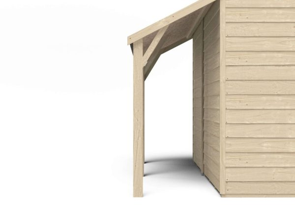 lean shed kit 8x6 overlap