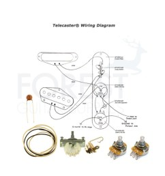 wiring kit for fender telecaster guitars switchcraft jack cts pots crl 3 way switch [ 1000 x 1000 Pixel ]
