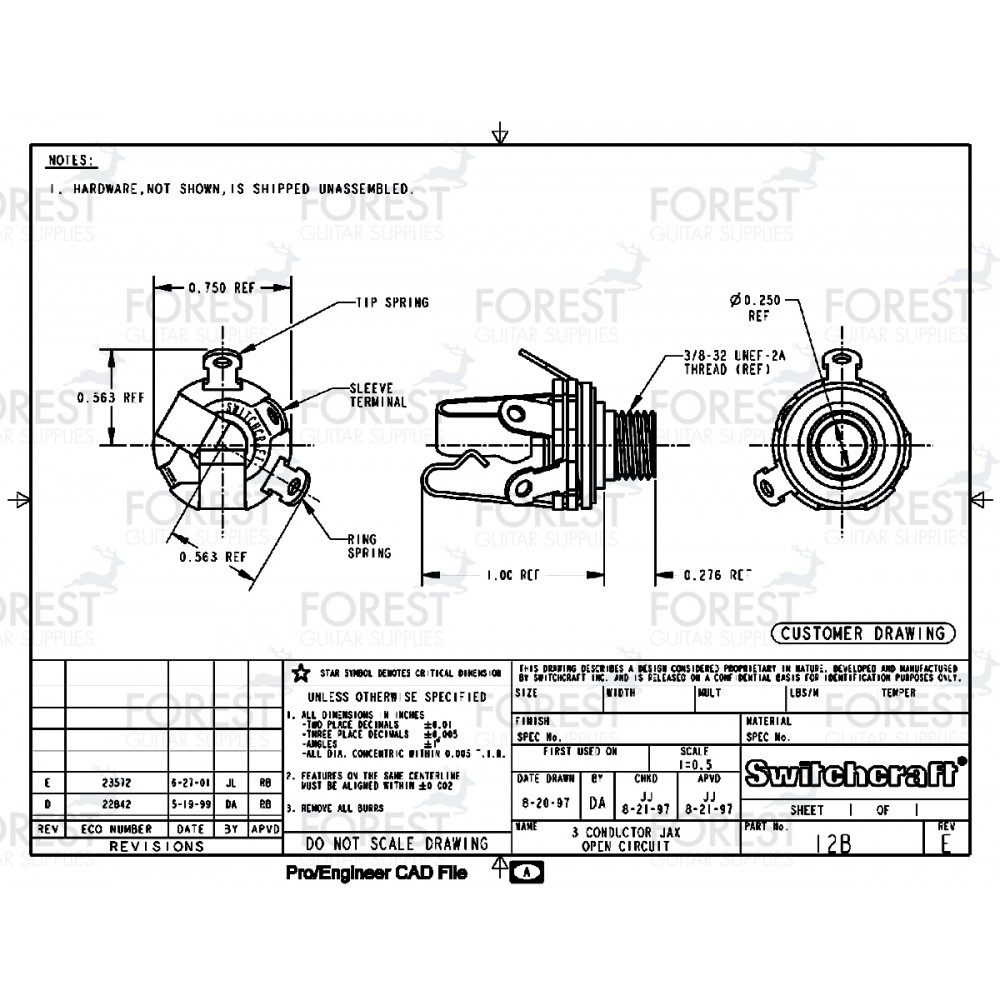 hight resolution of switchcraft sc12b jack stereo input 1 4 inch 14 inch input jack wiring