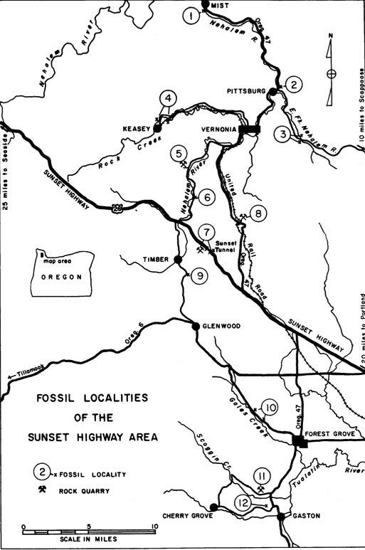 Rock hounding map thumbnail of Succor Creek Oregon area