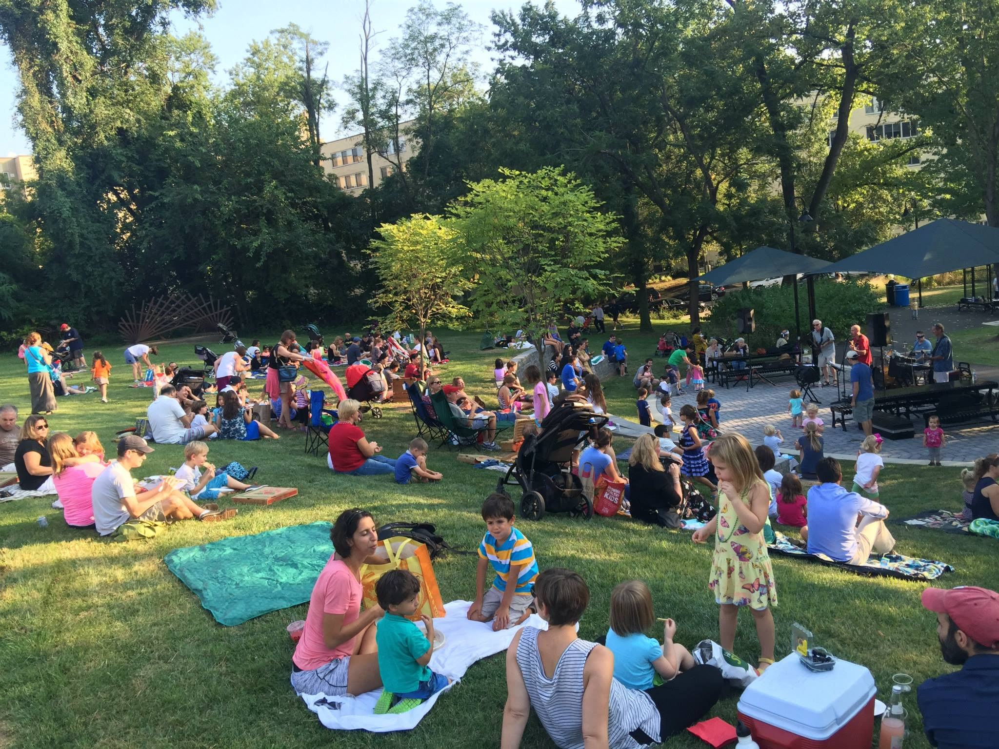 A large crowd enjoyed the music, the food and the perfect weather.