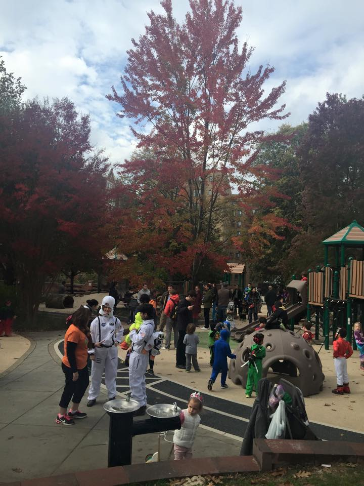 Just some of the crowd who came out to the playground October 25th. (photos by a four-year-old dragon)
