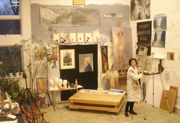 Annette Polan in her Forest Hills studio. (most photos by Lee Armfield Cannon)