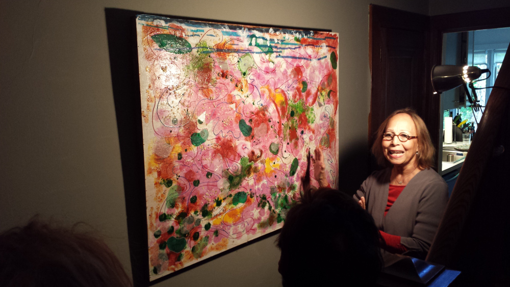 """Children taught me everything I know about art,"" Rosalia Gutierrez-Huete says."