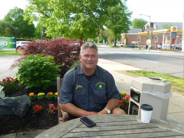 John Conner, the owner of Connecticut Avenue BP, sips his morning coffee.
