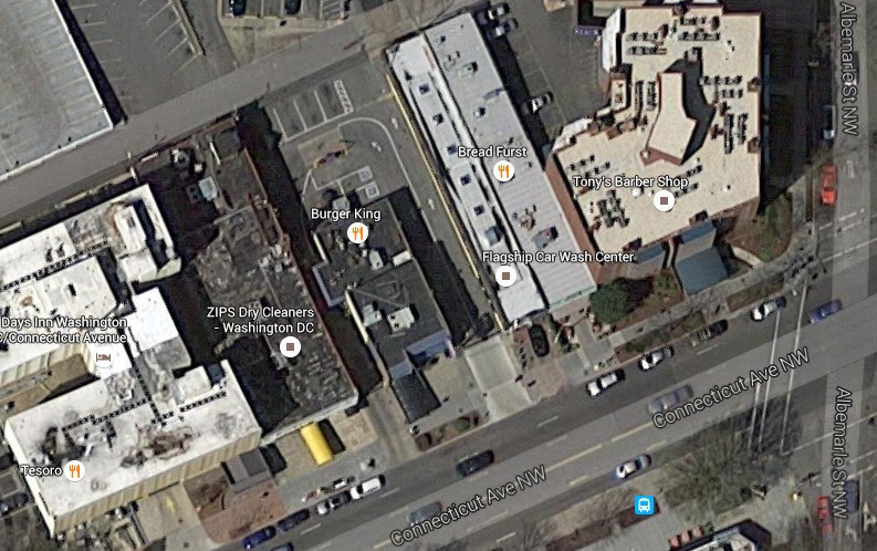 4422 Connecticut Avenue from above (Google Earth)