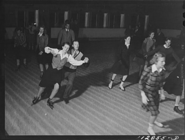 Skaters at the Chevy Chase Ice Palace, 1942 (Library of Congress)