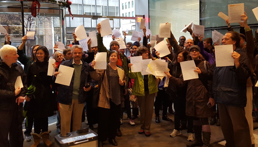 These opponents of the Pepco-Exelon merger testified at the last public interest hearing. (DC SUN photo)